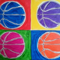 Pop-art B-ball