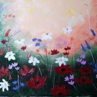 """""""wild flowers"""" 16x20 $35"""