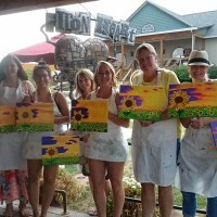 Painting party at Three Brother's Winery Iron Heart Cafe