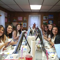 In studio painting party