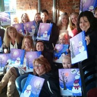 Painting party at Beef & Brew, Geneva, NY