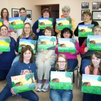 Building Bridges Relay For Life Team painting party