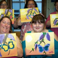 Butterfly and Lilac painting party
