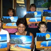Super Moon Over Seneca painting party