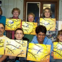 Thinking Spring painting party