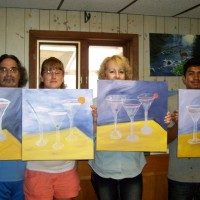 Three Cheers painting party