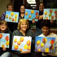 Tulips painting party