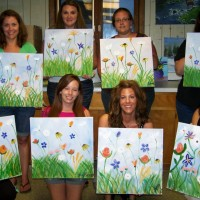 Wildflowers painting party