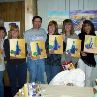 Wine and Dine painting party